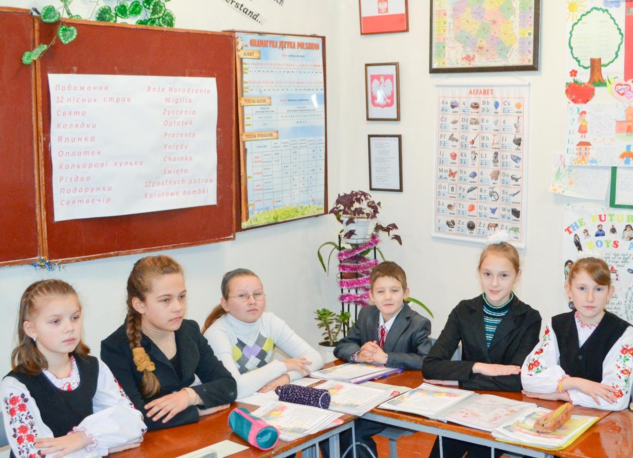 Na zajęciach fakultatywnych z języka polskiego (grudzień 2013 roku)