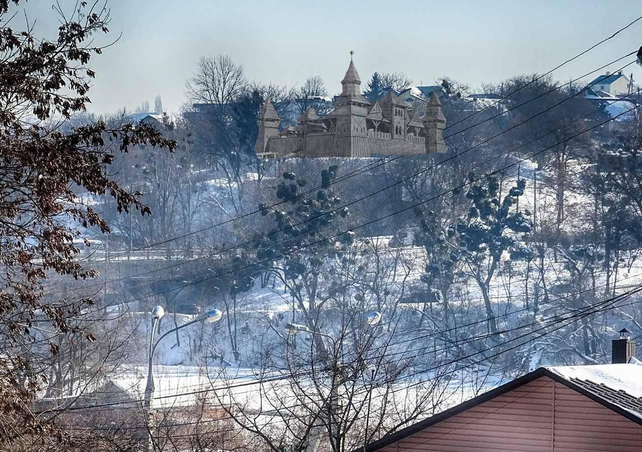 Tak mógł prawdopodobnie wyglądać piewszy zamek w Winnicy nad rzeką Boh