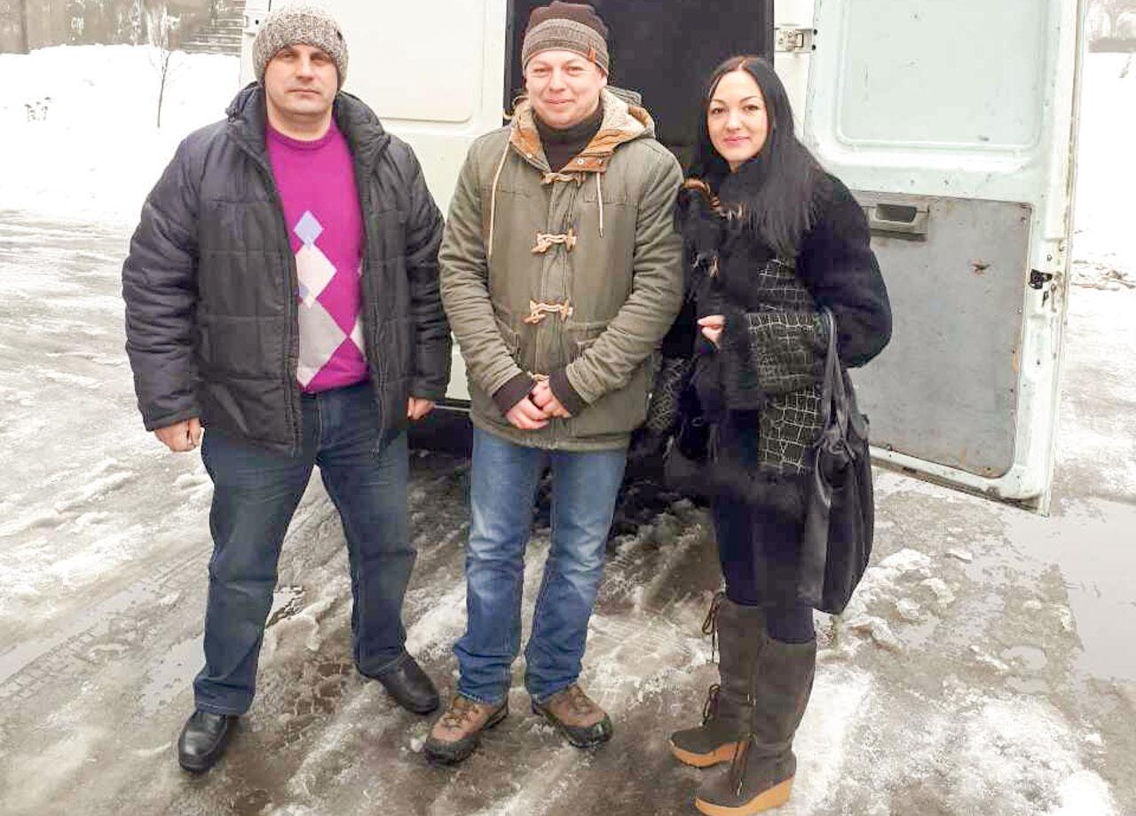 ks. proboszcz Edward Pióro, Inna Werżykowska, Oleg Kopaniew