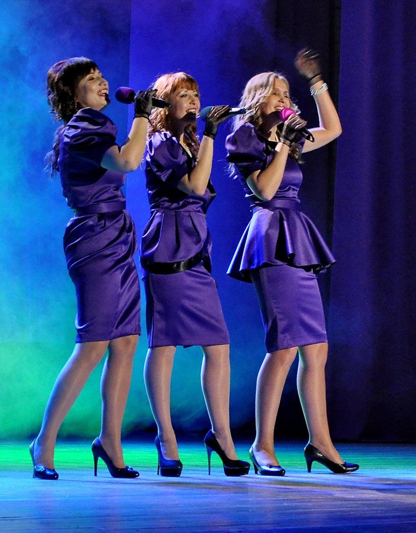 Trio Ażur w trakcie występu