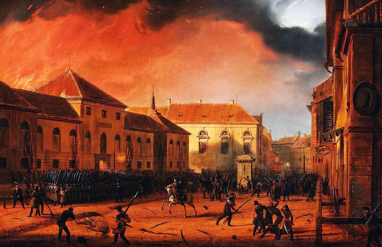 Marcin Zaleski, Cykl Listopadowy, Wzięcie Arsenału. Źródło: Wikipedia