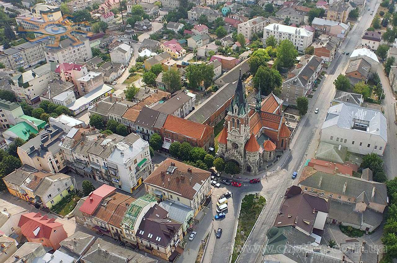 Panorama Czortkowa z lotu ptaka. Źródło: http://www.castles.com.ua