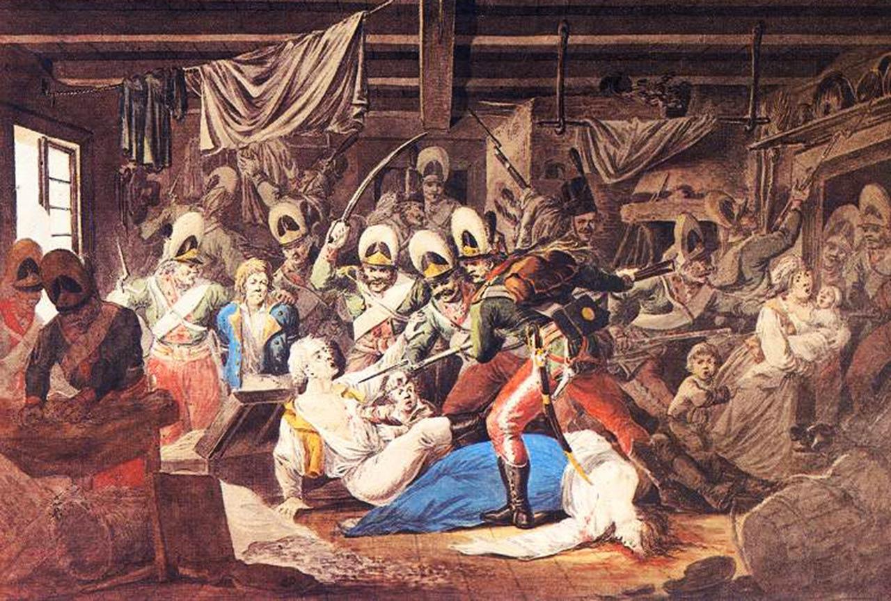 Rzeź Pragi, Aleksander Orłowski. Źródło: Wikipedia