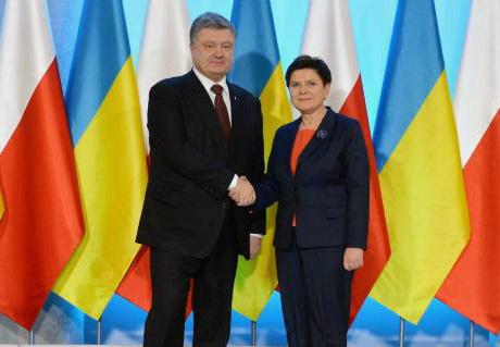 Premier Beata Szydło podczas spotkania z prezydentem Ukrainy Petrem Poroszenko. Źródło: wpolityce.pl