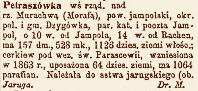 Słownik geograficzny Królestwa Polskiego i innych krajów słowiańskich