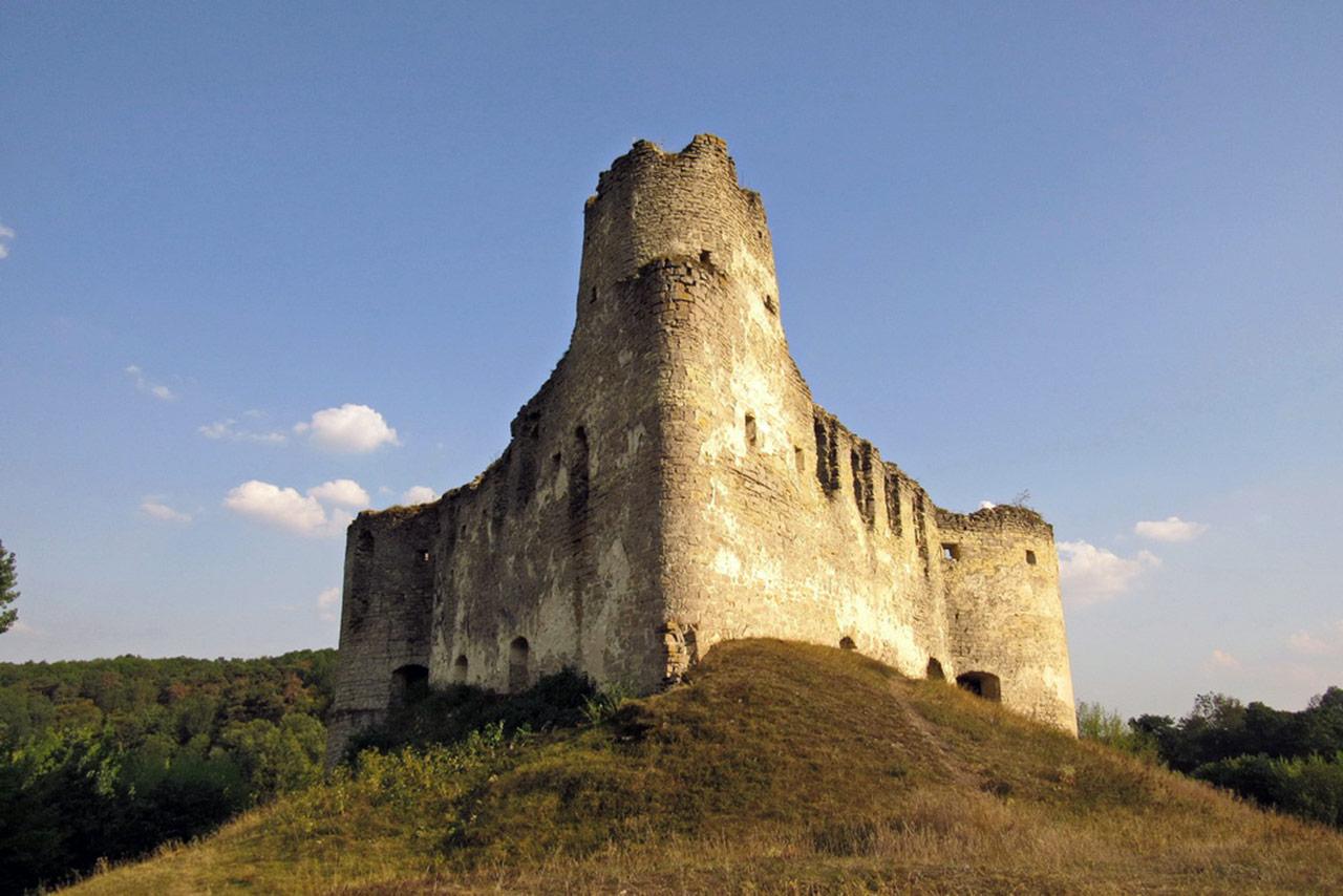 Zamek, kształtem przypominający statek w Sidorowie. Źródło: http://ternopillya.livejournal.com