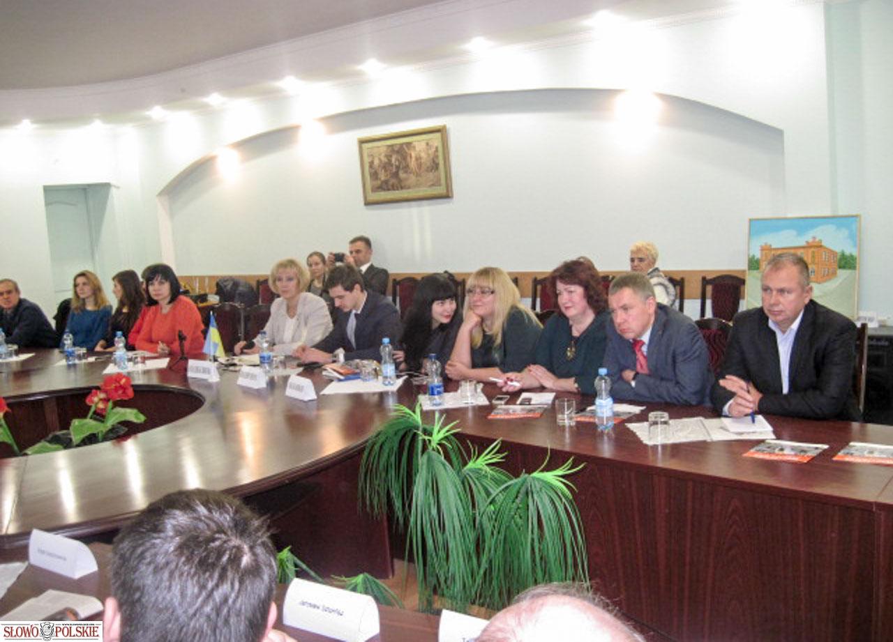 Spotkanie delegacji polskiej z przedstawicielami podolskiego biznesu