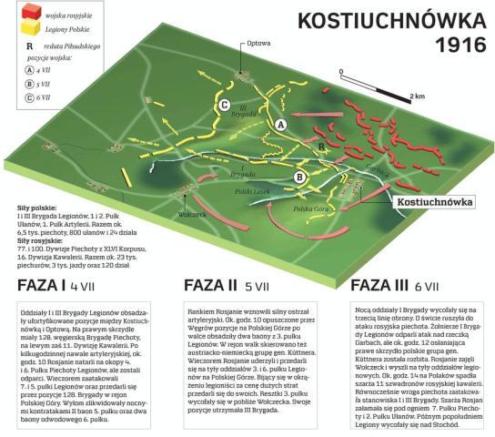 Mapa boju pod Kostiuchnówką. Źródło: archiwum.rp.pl