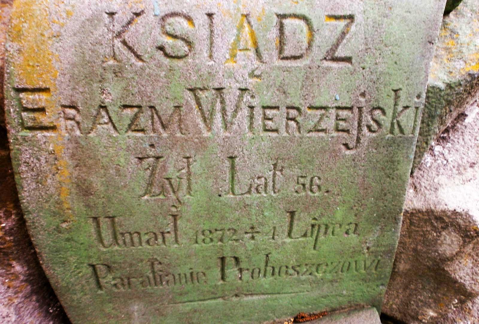Mogiła ks. Erazma Wierszejskiego w Mohylewe Podolskim