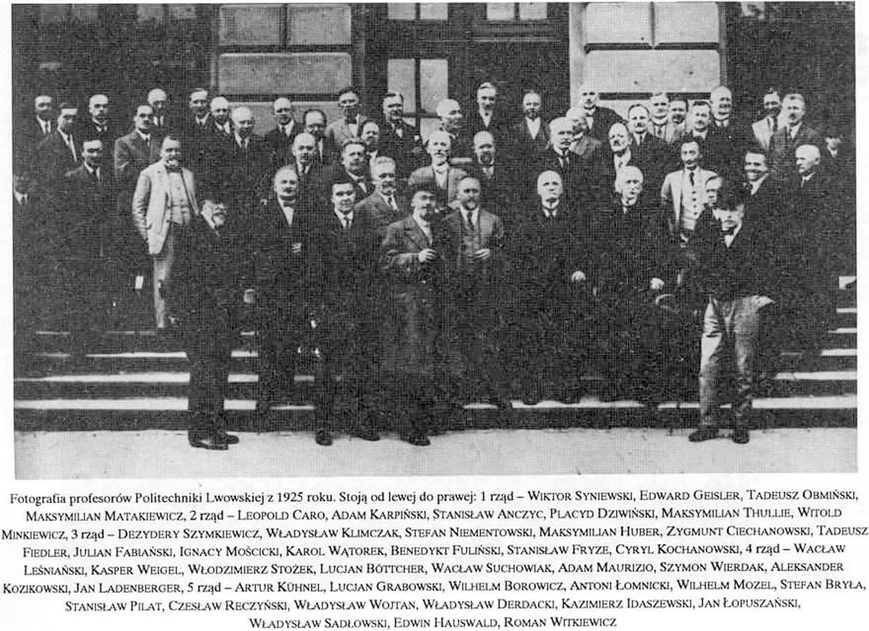 Profesorzy Politechniki Lwowskiej. Fotografia z 1925 r.