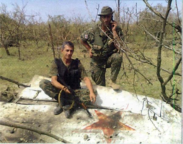 Gruzini na jednym z zestrzelonych w 2008 roku rosyjskich samolotów