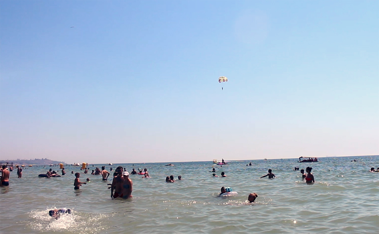 Plaża w Koblewo w obwodzie odeskim