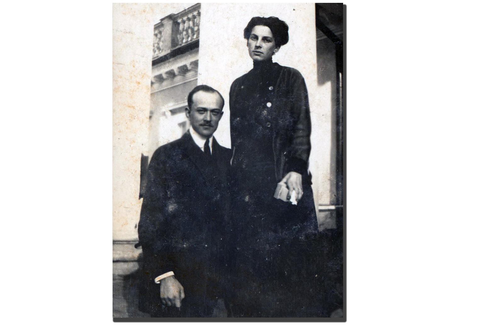 Tadeusz Grocholski (junior) z żoną Zofią z Russanowskich