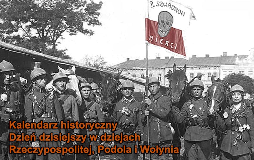 II Ochotniczy Szwadron Śmierci w czasie walk o Lwów w 1920 roku. Z prawej ułanka Janina Łada-Walicka