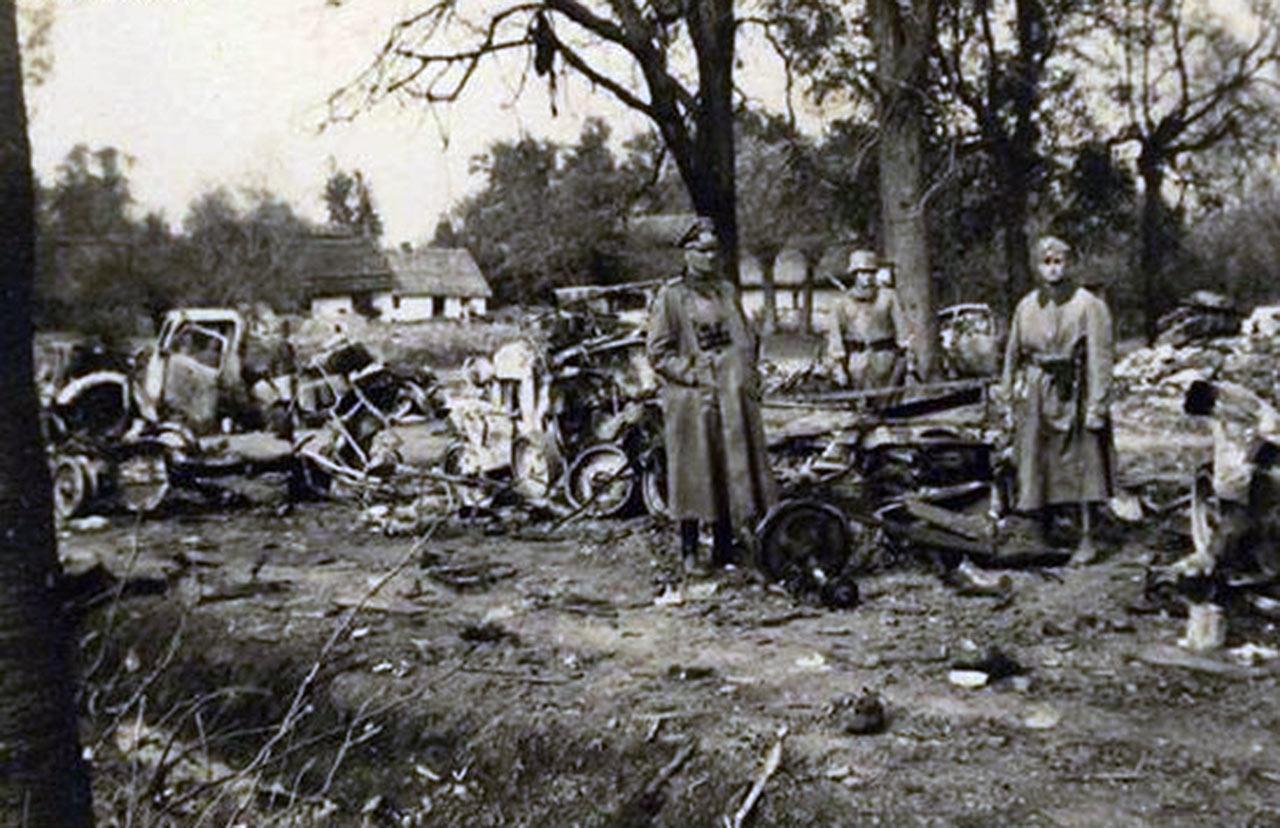 Rozbite niemieckie jednostki pod Mużyłowicami. Źródło: odrywca.pl