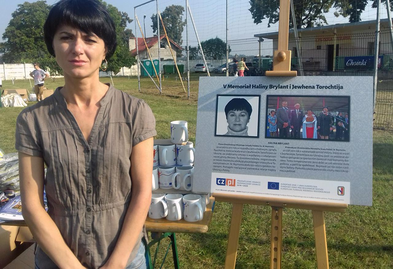 Prezes Chmielnickiego Związku Polaków Eugenia Brylant w Bierawie