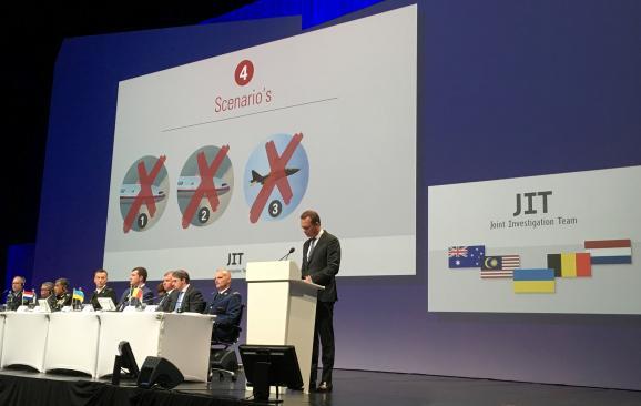 Uczestnicy JIT prezentują wyniki śledztwa. Źródło: Espreso
