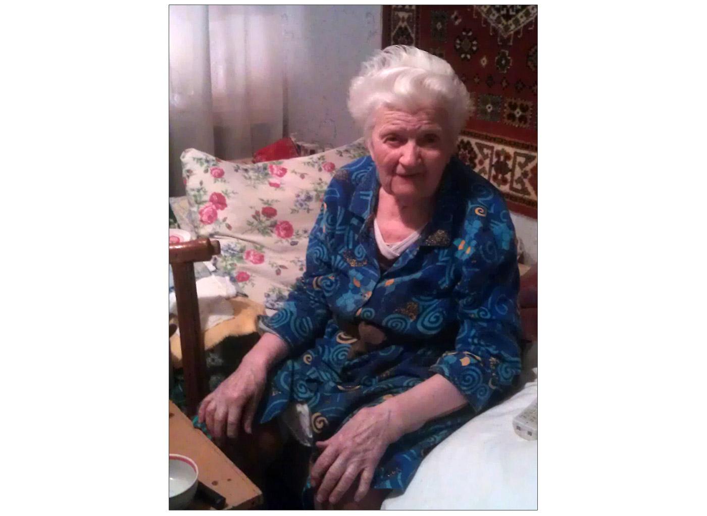 Pani Bronisława Prysiażniuk, jedna z beneficijentek pomocy charytatywnej z Polski