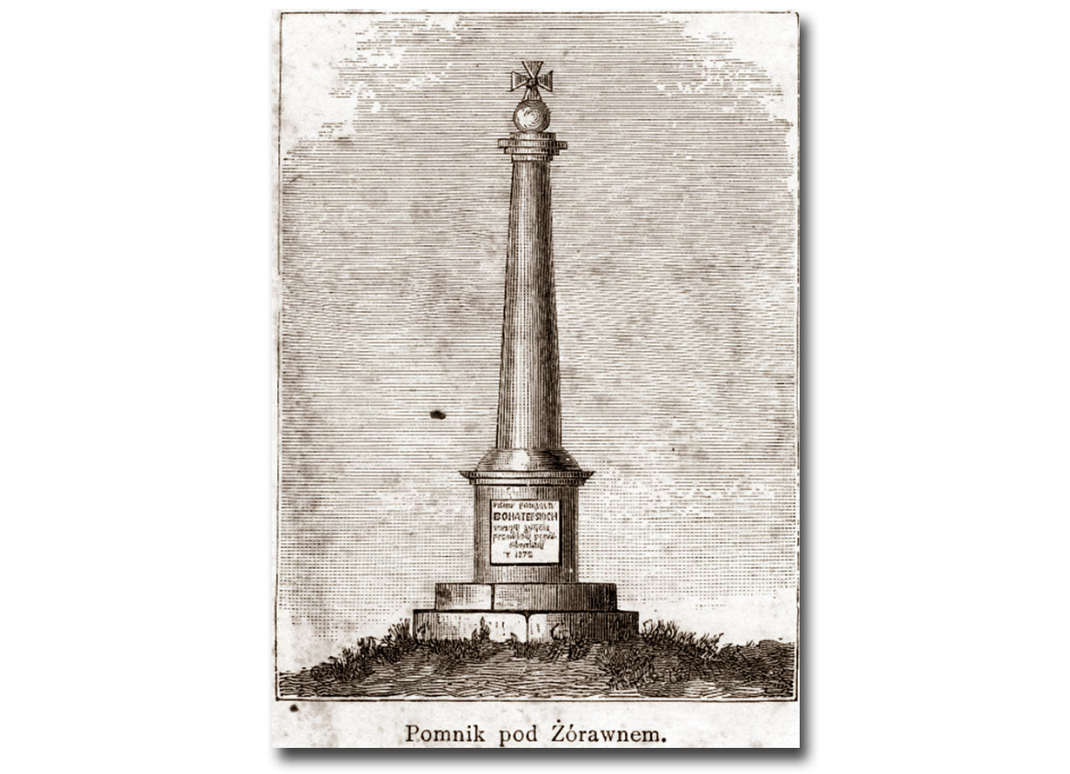 57_61_pomnik pod Żórawnem.jpg Pomnik bitwy pod Żórawnem, rycina ze zbiorów Biblioteki Narodowej