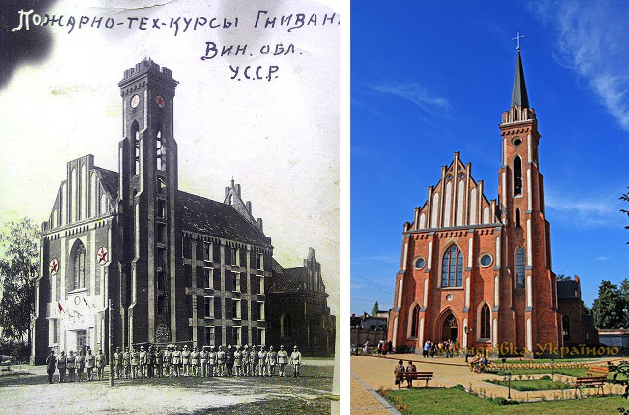 Zdjęcie kościoła z czasów bolszewickiej okupacji przekazał Oleg Bania z Hniewania