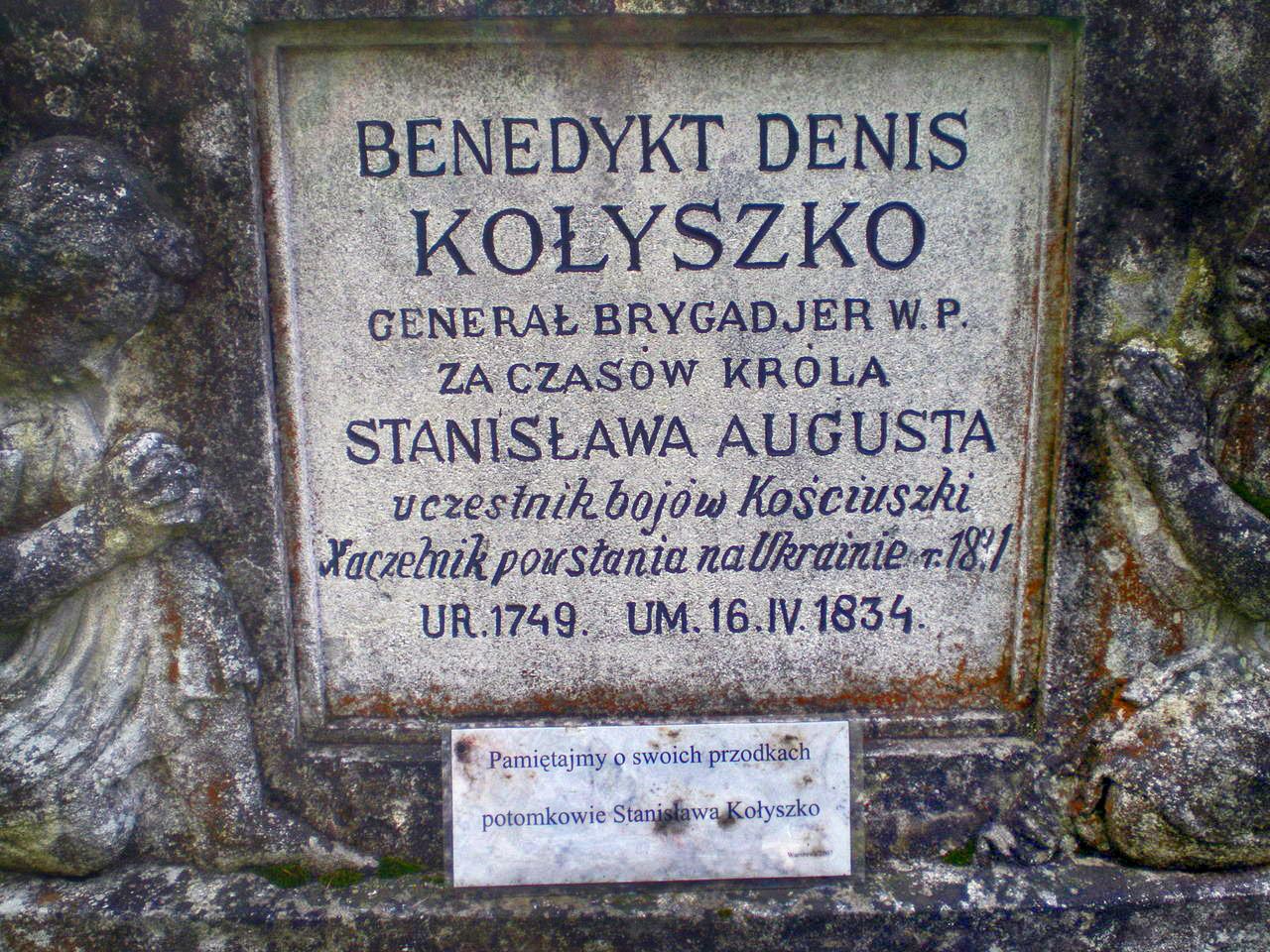 Mogiła gen. Kołuszki na Cmentarzu Łyczakowskim. Źródło: Wikipedia