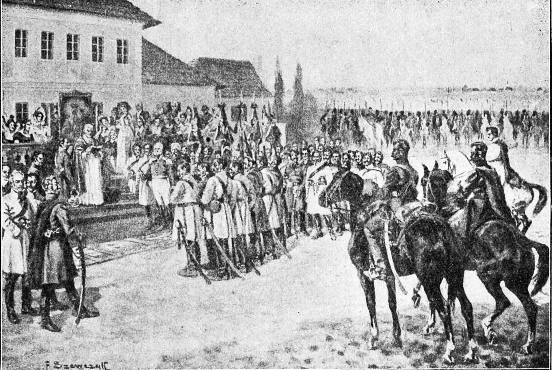 Poświęcenie sztandarów w Krasnosiółce. 1831 r.