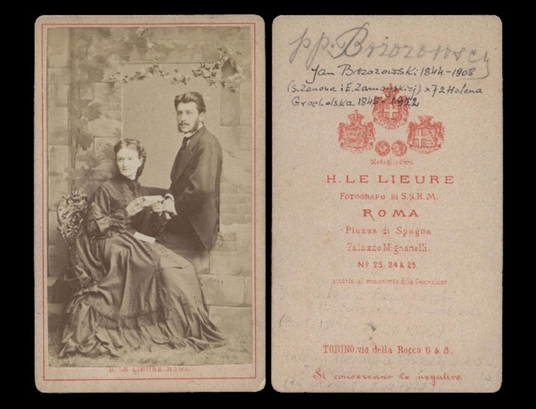 Zdjęcie Heleny z Grocholskich i Jana Brzozowskiego, którzy dali Nowakiwskiemu stypendium i wysłali do Krakowa