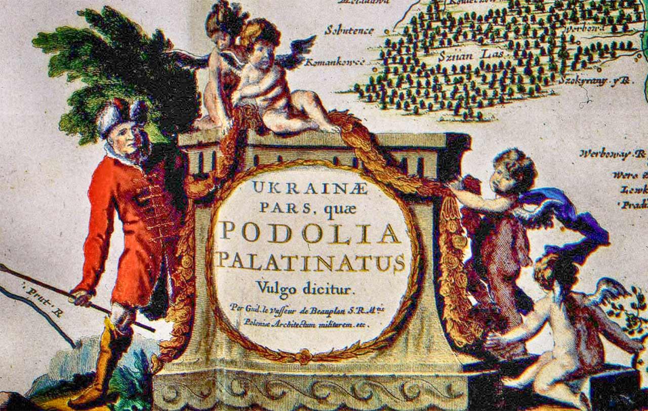 Fragment mapy Bouplana z XVII w.