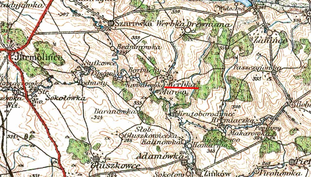 Mapa Podola z 1928 r.
