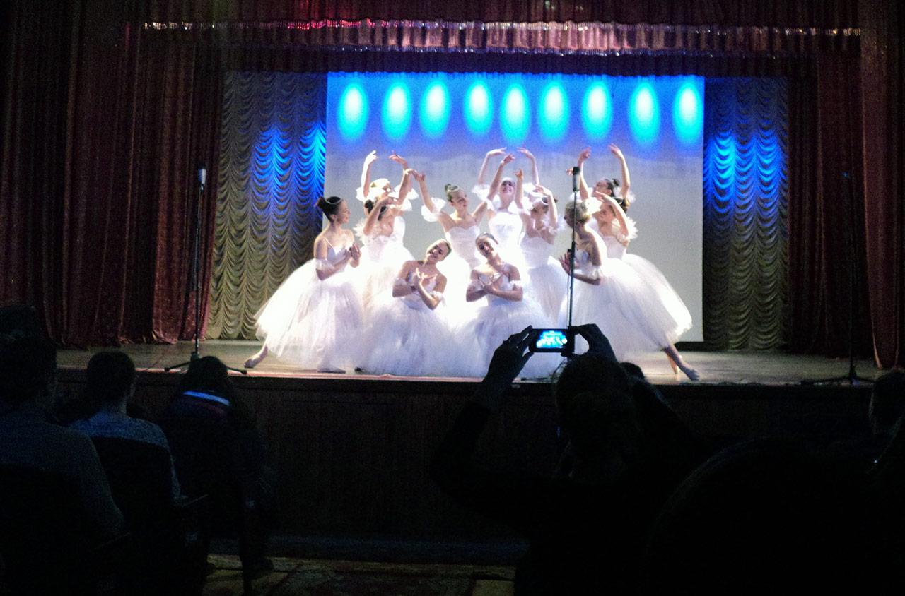 Fragment baletu Chopeniana Elliasza Głazunowa w wykonaniu przez winnicki zespół choreograficzny