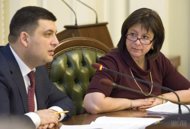Wołodymyr Grojsman oraz Natalia Jareśko. Źródło: UNIAN