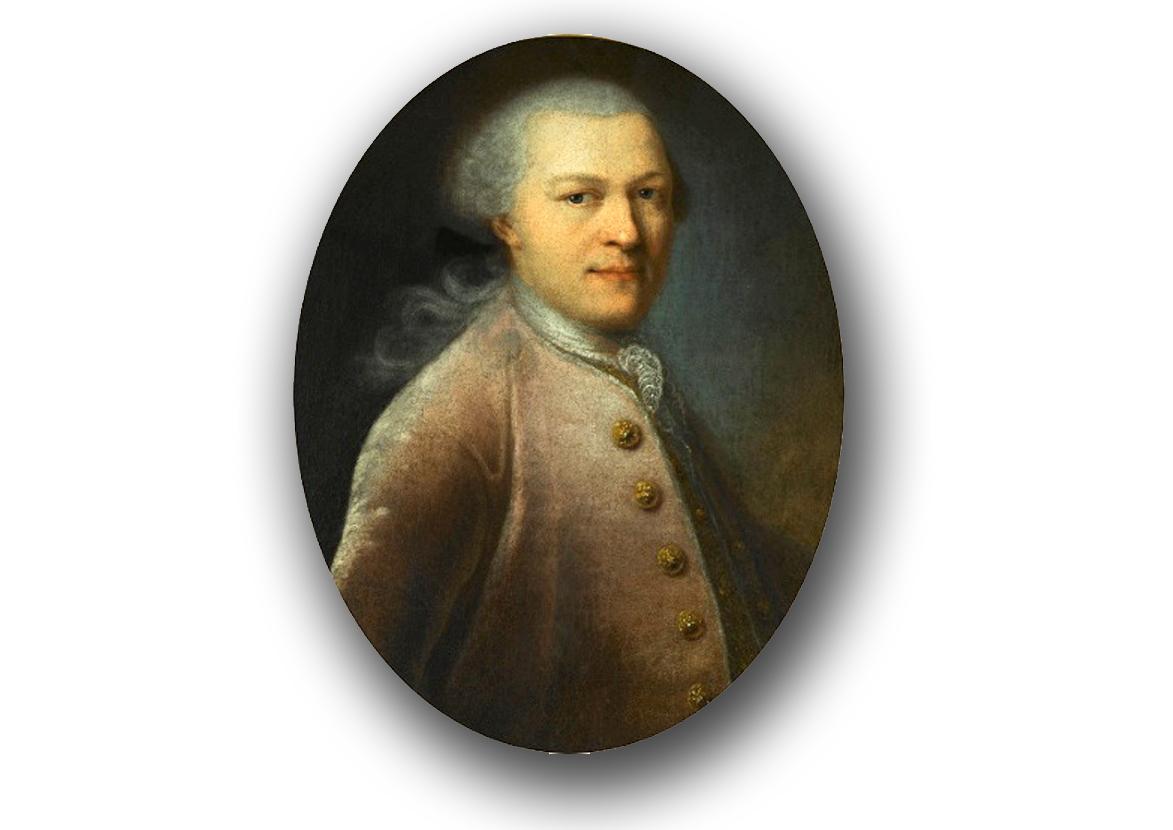 Portret 20-letniego Szczęsnego Potockiego autorstwa szwedzkiego malarza Aleksandra Roslina