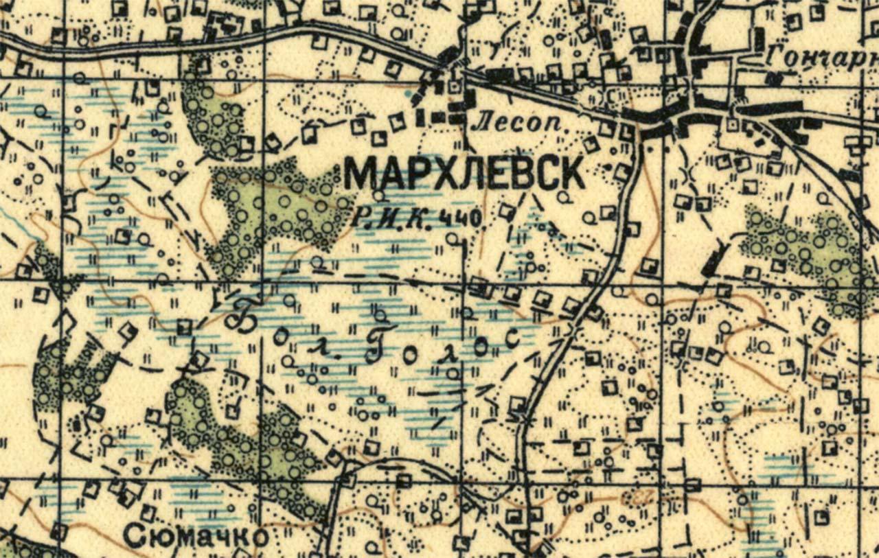 Marchlewsk na sowieckiej mapie z 1931 r.