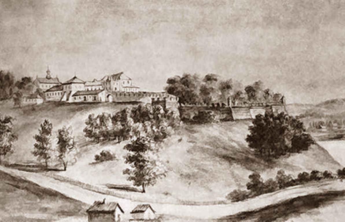 Zamek w Starym Oleksyncu na szkicu Napoleona Ordy.