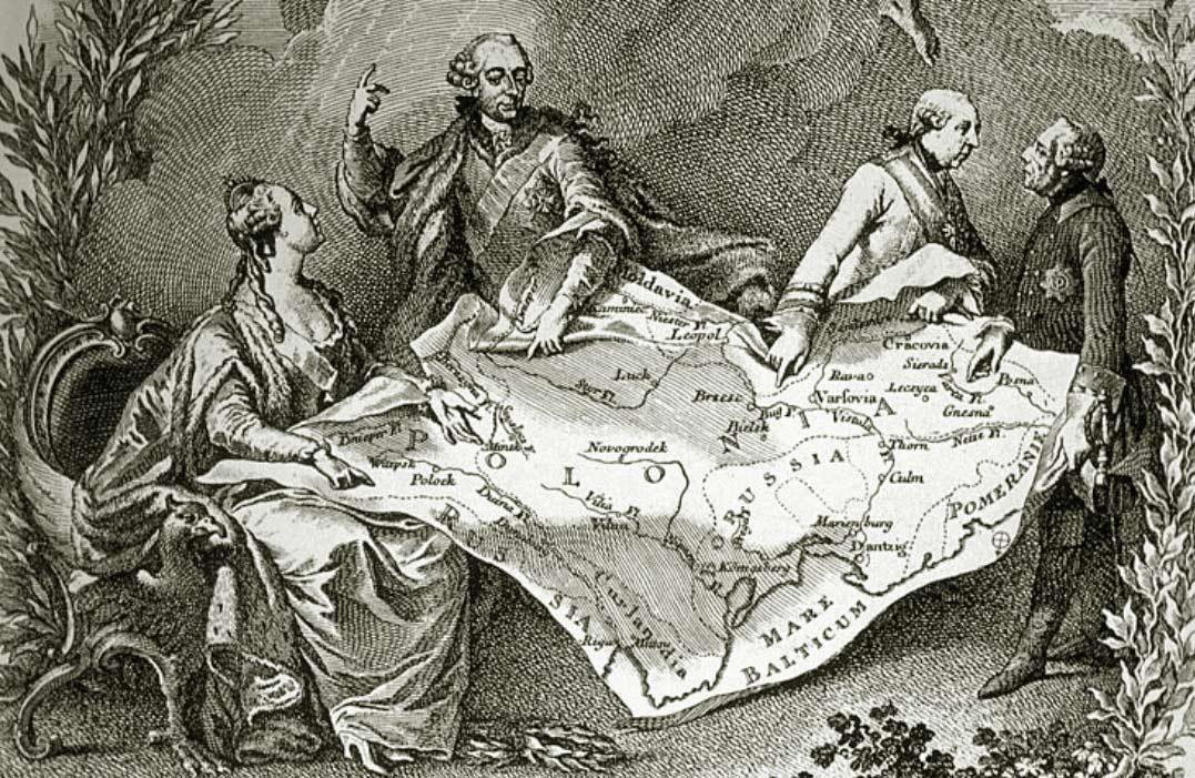Rysunek Jeana-Michela Moreau le Jeune'a, będący satyrą na I rozbiór Polski