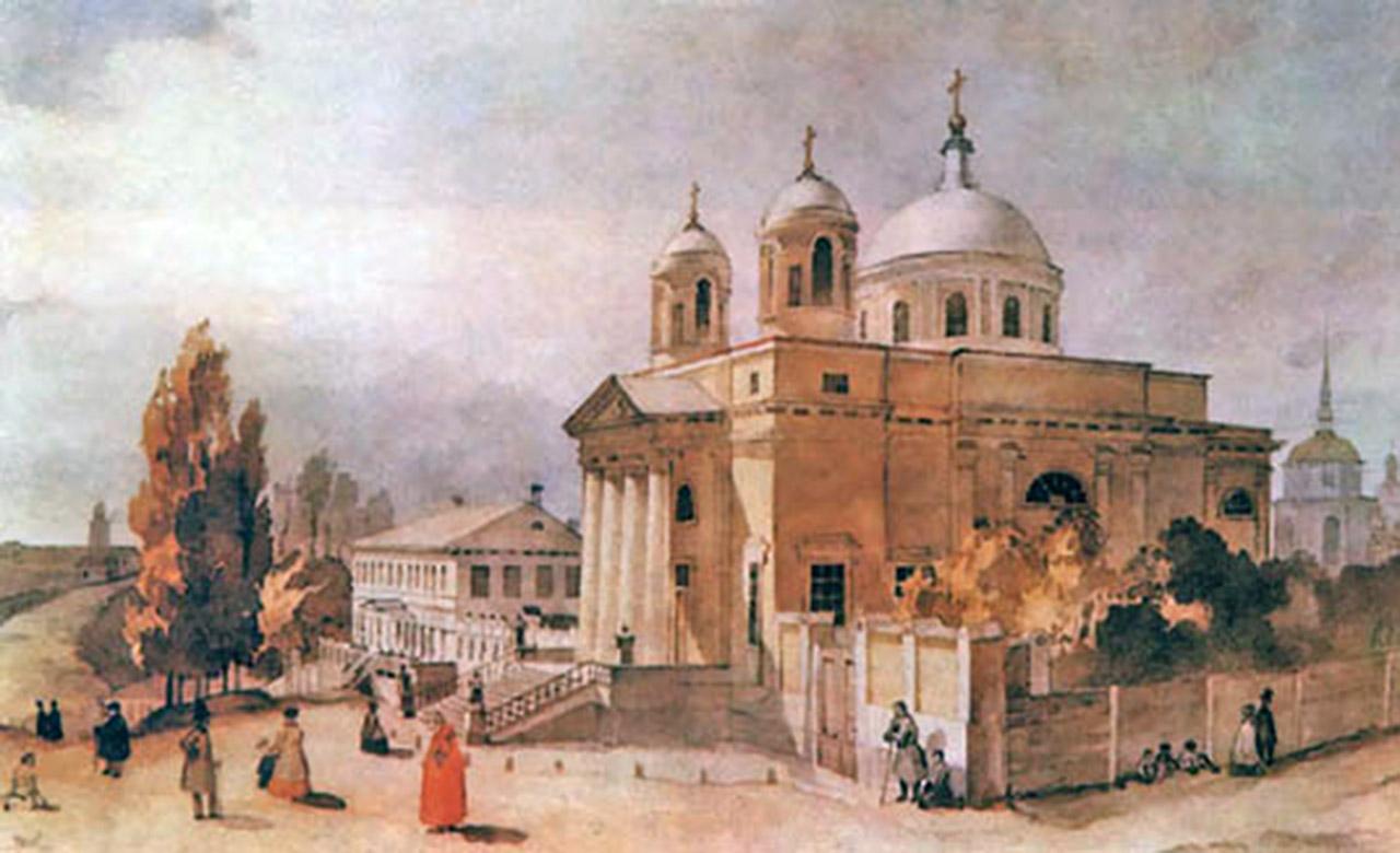 Kościół Św. Aleksandra w Kijowie pędzla Tarasa Szewczenki