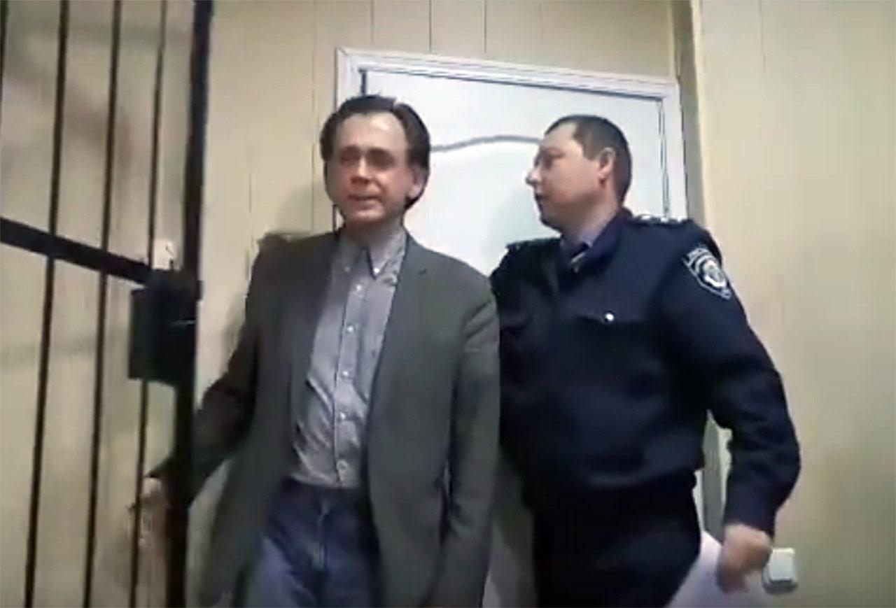 Moment wyjścia Orłowa z aresztu. Źródło: ODF