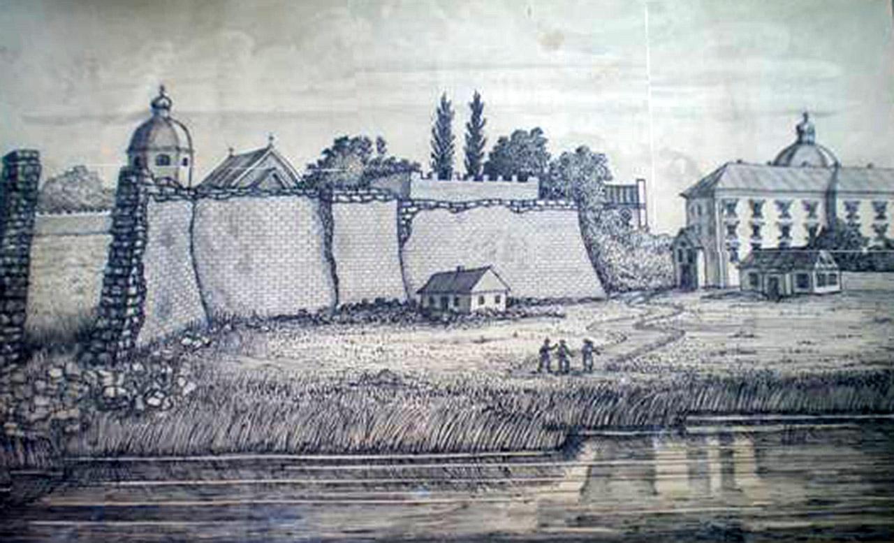 Forteca w Barze XVII w. Szkic E. Paniszewskiego