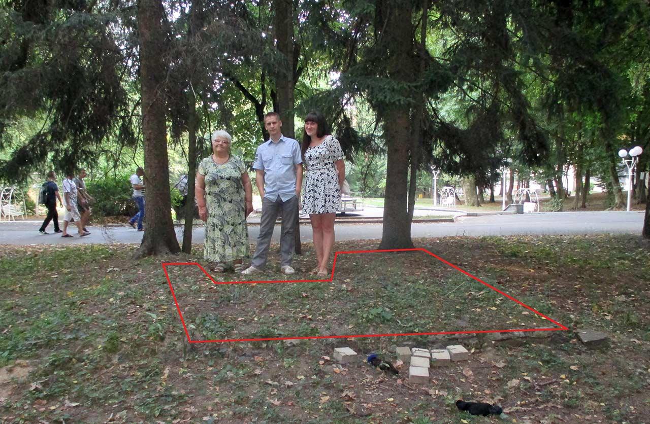 Miejsce w parku, gdzie stał pomnik Stalina. Usunięto go tuż po śmierci tyrana