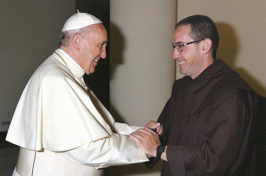 o. Miguel podczas audiencji u Papieża Franciszka