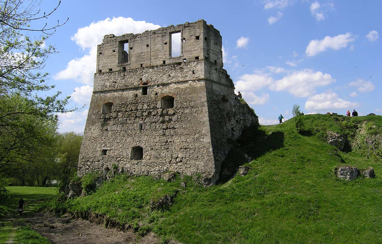 Były zamek Wiśniowieckich w Tokach