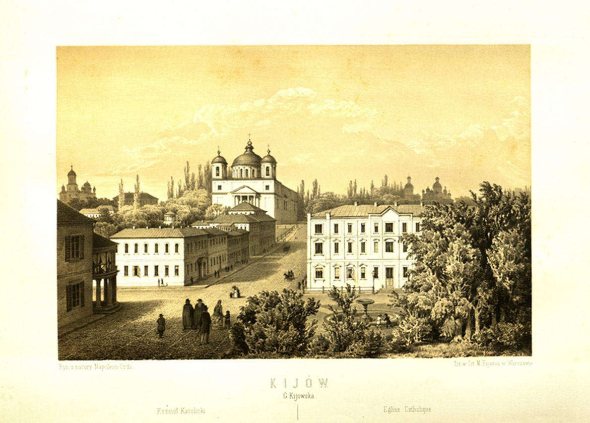 Szkic Napoleona Ordy z widokiem XIX-wiecznego Kijowa