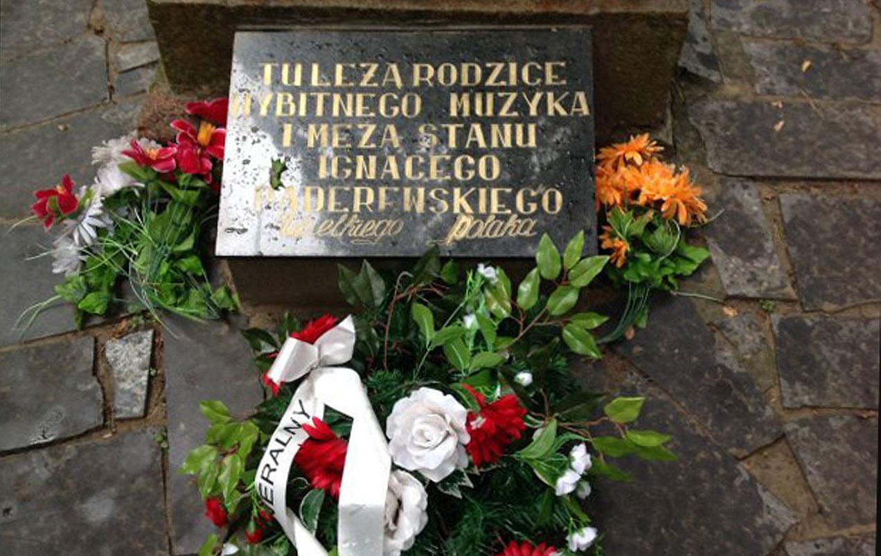 Cmentarz polski w Żytomierzu. Mogiła ojca i przybranej matki I.J. Paderewskiego