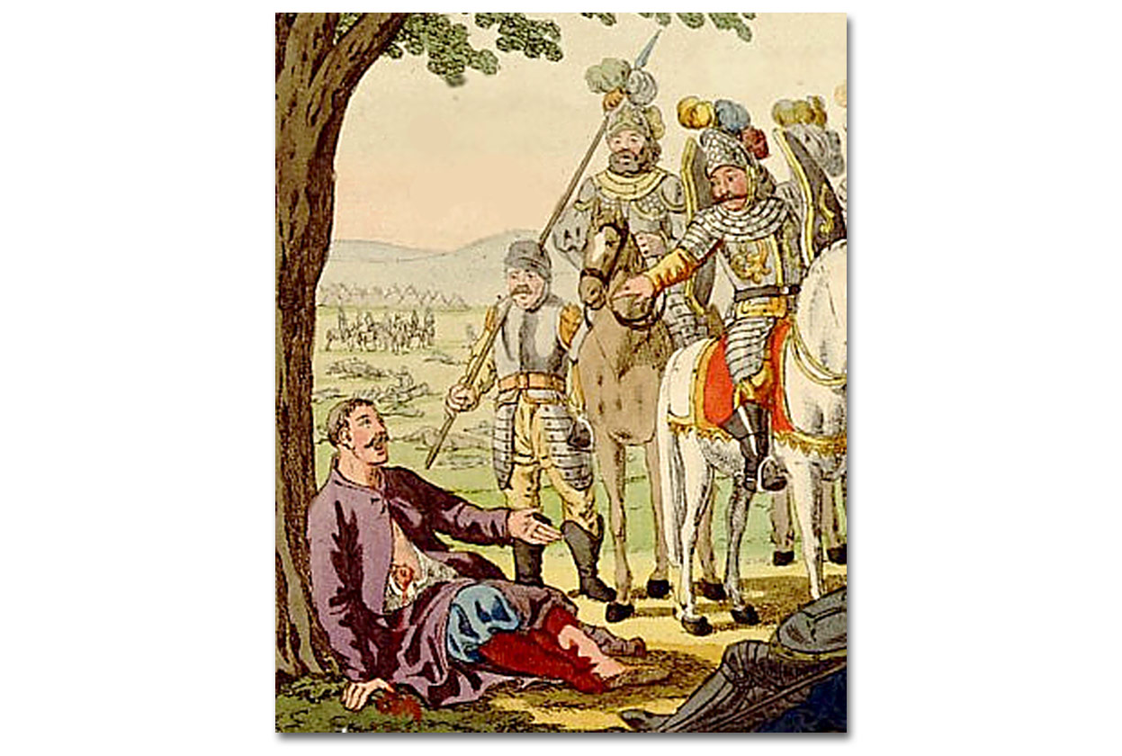 Wladyslaw Lokietek spotyka Floriana Szarego po bitwie pod Plowcami. Autorstwo nieznane