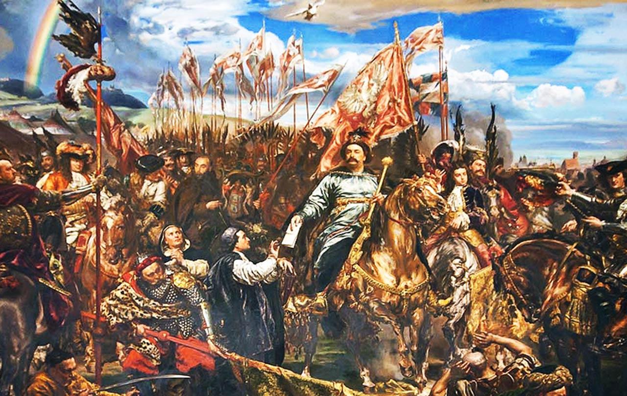 Haft Jan III Sobieski pod Wiedniem na podstawie obrazu Jana Matejki