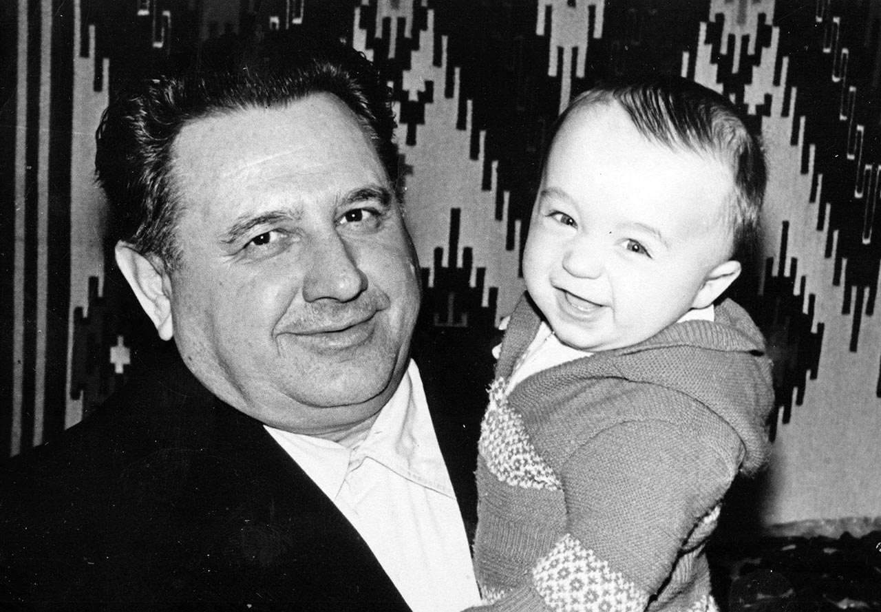 Aleksander (Aleks) ze swoim dziadkiem Janem (Iwanem) Purtak