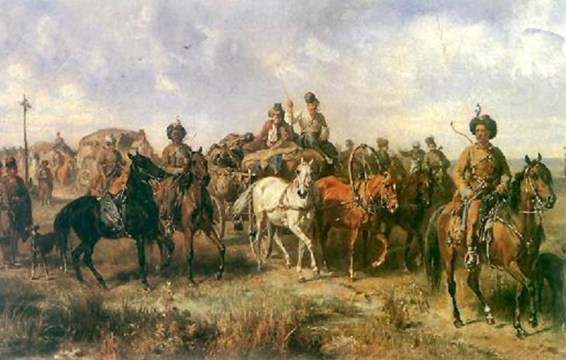 Pochód lisowczyków, J. Brandt