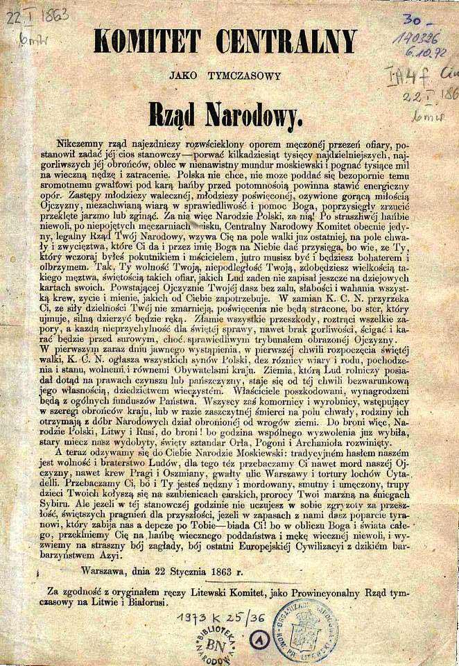 Manifest powstańców