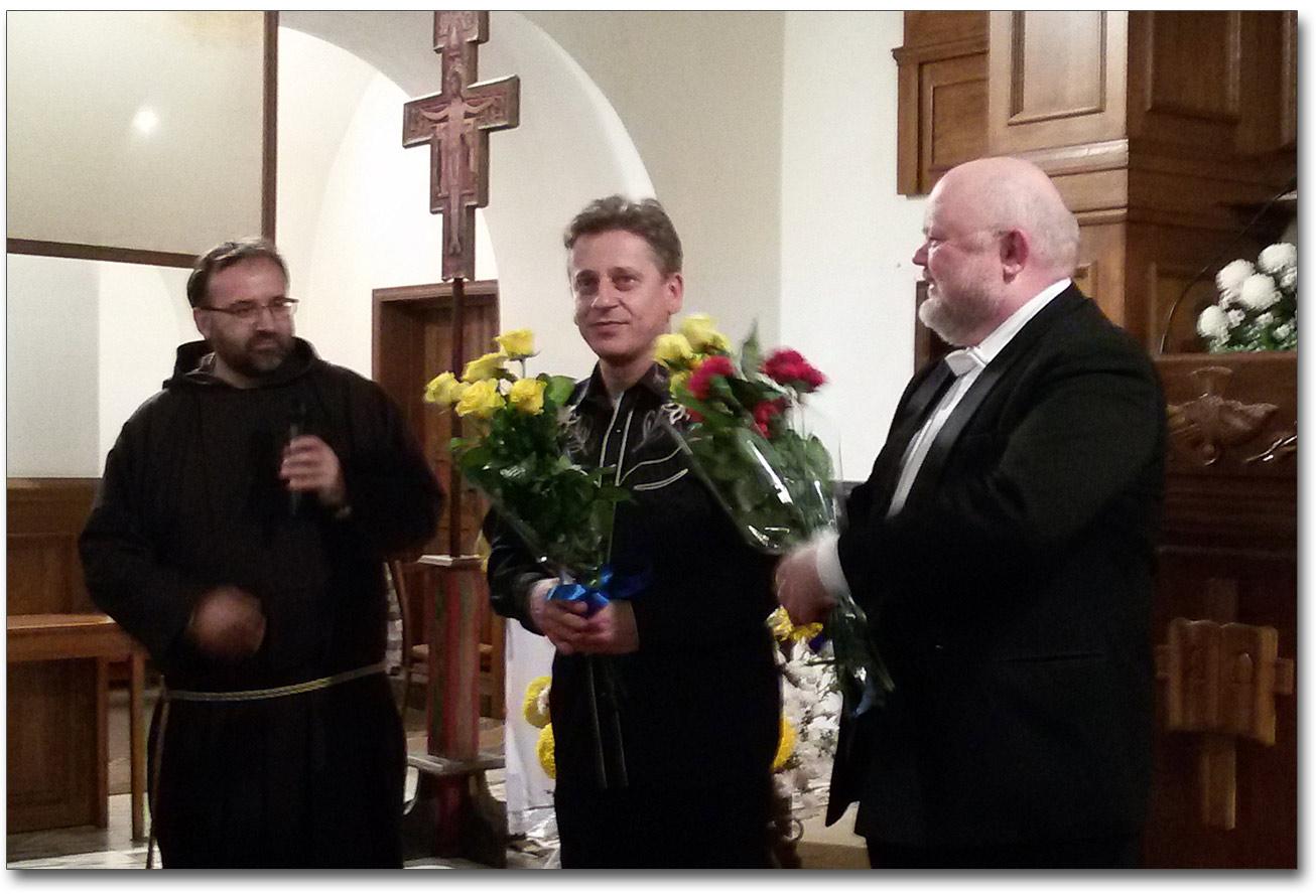 Od prawej - brat Konstantyn Morozow OFM Cap, Jacek Śrebniak, Jerzy Kukla