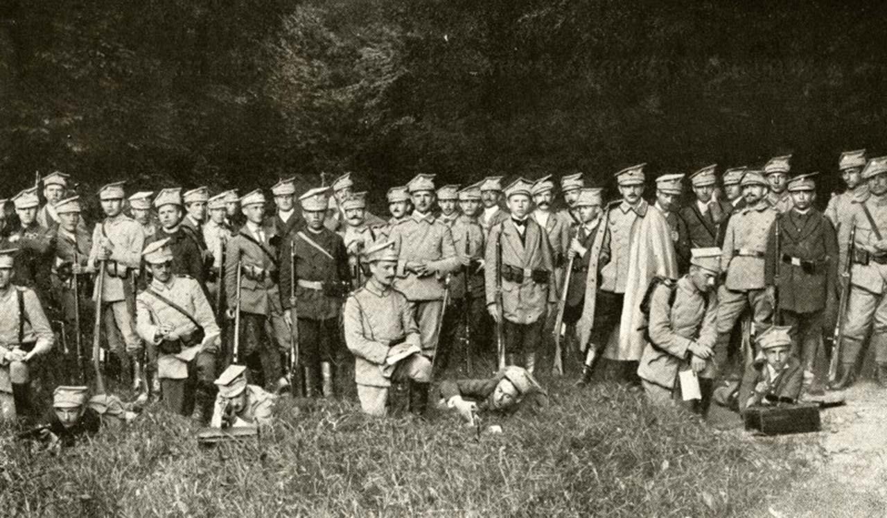 Drużyny Bartoszowe Legionu Wschodniego, wrzesień 1914, nr inw. 54/16. Źródło - mjp.najlepszemedia.pl